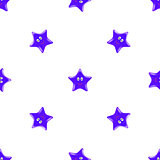Blue Star Seamless Pattern