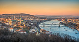 Cityscape of Budapest, Hungary at Sunset