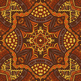 Folk indian geometric ornamental textile pattern