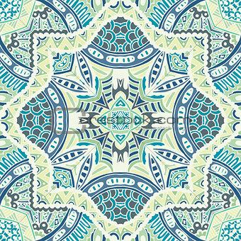 abstract mosaic tiles seamless pattern ornamental