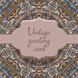 ethnic vintage ornamental card template.
