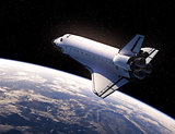Space Shuttle In Space
