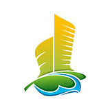 Architecture Building Colorful Vector Icon Logo