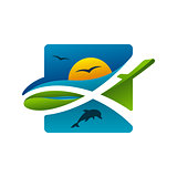 Colorful Safari Travel Vector Icon