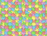 Seamless pattern jigsaw puzzles