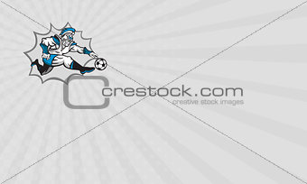 Business card Roman Warrior Soccer Player Ball Retro