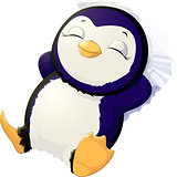 Sleep cute penguin