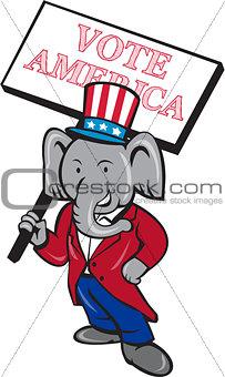 Republican Elephant Mascot Vote America Cartoon