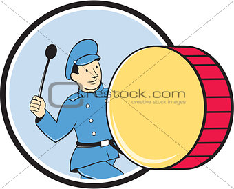 Brass Drum Marching Band Drummer Circle