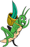 Grasshopper Carrying Basket Grass Cartoon