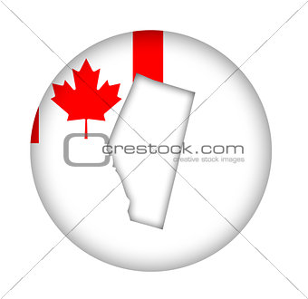 Canada Alberta state map flag button
