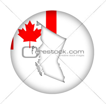 Canada British Columbia map flag button