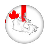 Canada map flag button