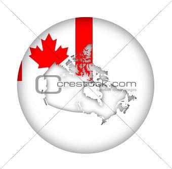 Canada map flag button