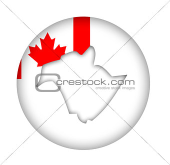 Canada New Brunswick state map flag button