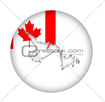 Canada Newfoundland state map flag button