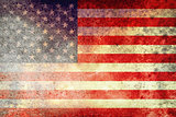 Rusted and Grunge Textured American Flag
