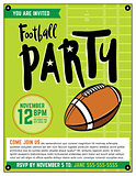 American Football Party Template Illustration