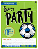 Soccer Party Invitation Template Illustration