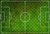 Textured Checkered Grunge Soccer Football Field