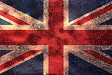Worn Union Jack Grunge Flag Background