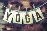 Yoga Concept Pinned Cards and Rust