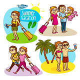 Summer vacation travel family