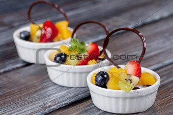 beautiful dessert on white plate