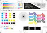 Calibration printing marks CMYK