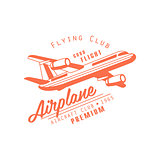 Flying Club Red Emblem Design
