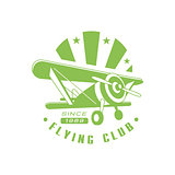 Flying Club Green Emblem Design