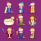 King Cartoon Illustration Set