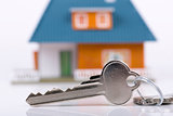 keys and house, concept of buying new real estate
