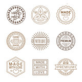 Retro Design Insignias Logotypes , Hand Made