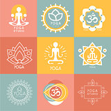 Set of Yoga and Meditation Symbols