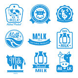 Blue and White Milk Symbols