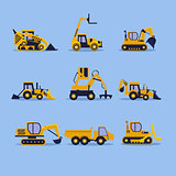 Yellow Tractors Illustration