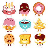 Funny Cartoon Food and Drink