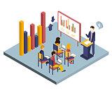 Presentation or Meeting Isometric Vector Illustration