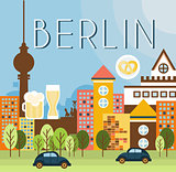Berlin Landscape Vector Illustration