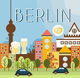 Berlin Landscape Vector Illustration