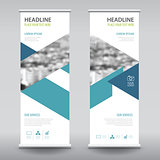 roll up business brochure flyer banner design vertical template