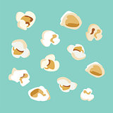set of popcorn vector flat  design