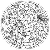 tangled mandalas and shapes in the circle