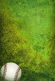 Textured Baseball Field Background with Ball