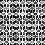 Vector Seamless Gradient Cube Shape Rhombus Grid Geometric Pattern