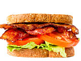 juicy bacon lettuce and tomato sandwich