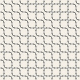 Vector Seamless Black and White Dotted Lines Pattern