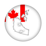 Canada Northwest Territories map flag button