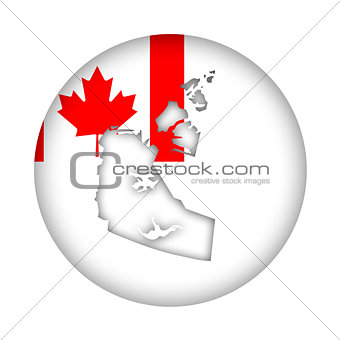 Canada Northwest Territories map flag button